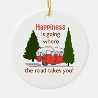 Where Roads Takes You Ceramic Ornament