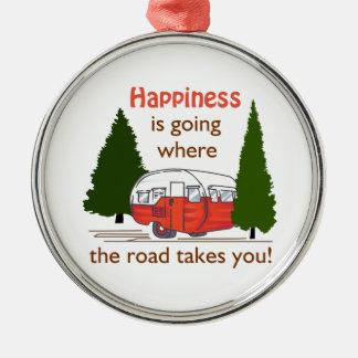 Where Roads Takes You Metal Ornament
