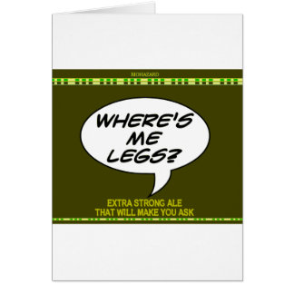 Where s Me Legs Beer Cards