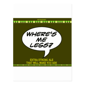 Where s Me Legs Beer Postcards