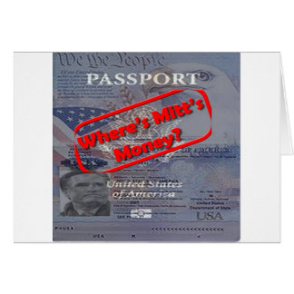 Where's Mitt's Money? Card
