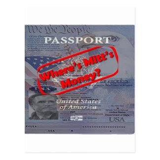 Where's Mitt's Money? Postcard