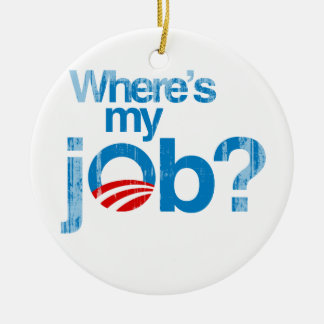 Where s my job Faded png Christmas Ornaments