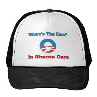 Where's The Care? In Obama Care Trucker Hat