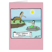 """Where Seahorses Come From"" Valentine's Day Card"