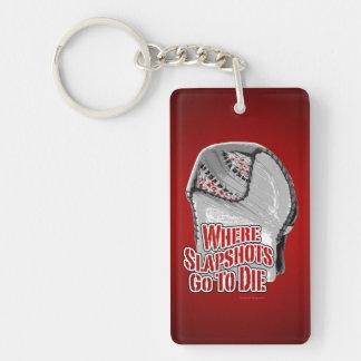 Where Slapshots Go To Die (Hockey) Keychain