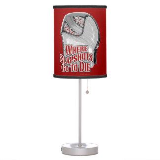 Where Slapshots Go To Die Table Lamp