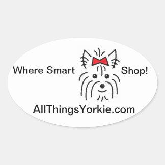 Where Smart Yorkie Shop! Sticker