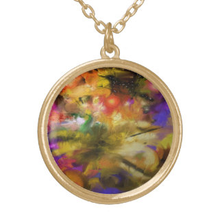 Where Stars are Born Abstract Round Pendant Necklace