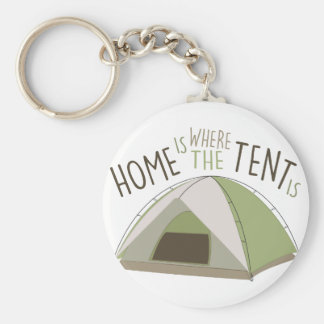 Where Tent Is Keychain