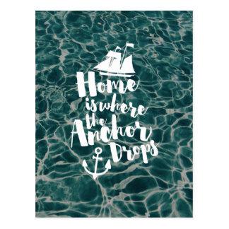 Where The Anchor Drops Postcard