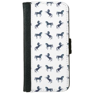 Where the blue horses run iPhone 6/6s wallet case