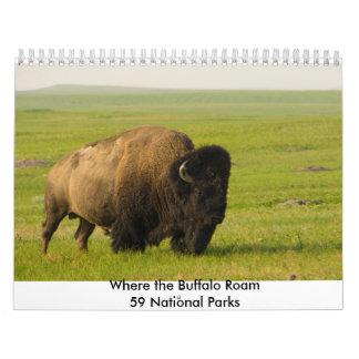 Where the Buffalo Roam Calendar