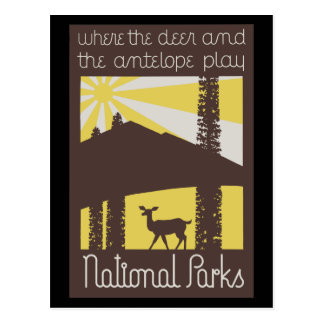 where the deer and antelope play postcards