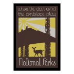 where the deer and antelope play poster