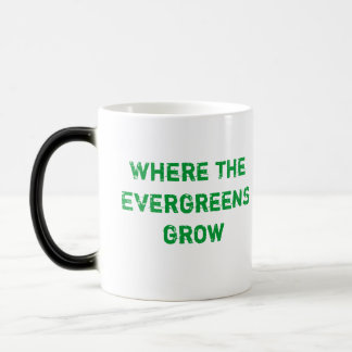 Where the evergreens grow mug