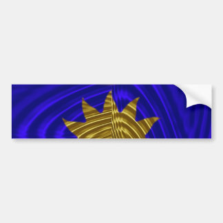 Where the gold meets the blue bumper sticker