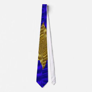 Where the gold meets the blue tie