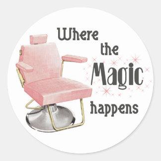 Where the Magic Happens Hair Stylist Sticker