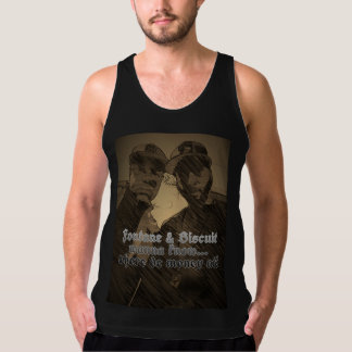 Where the money at? Graphic brown tank top