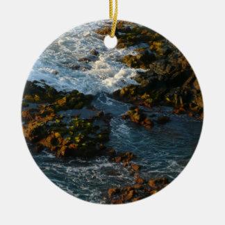 Where the Ocean Meets the Rocks Ceramic Ornament