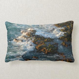 Where the Ocean Meets the Rocks Lumbar Pillow