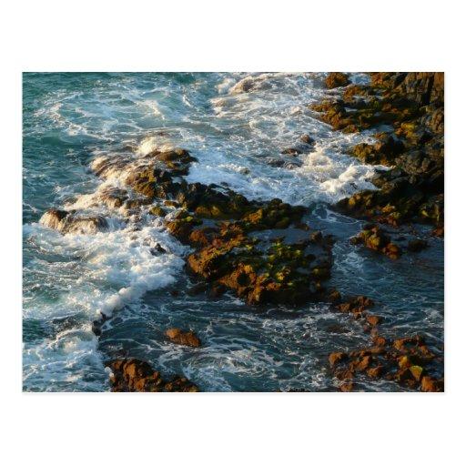 Where the Ocean Meets the Rocks Postcard