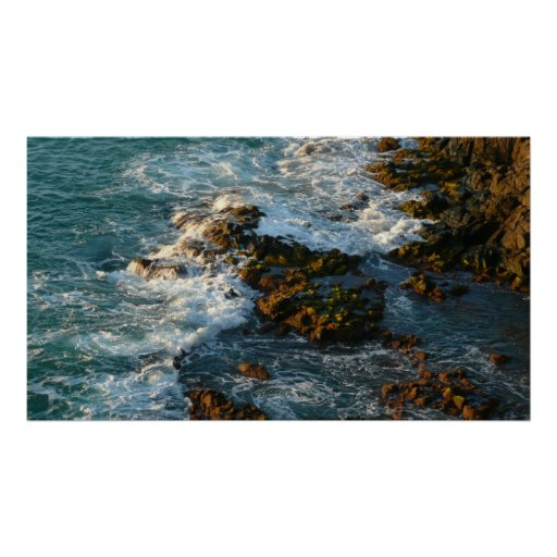 Where the Ocean Meets the Rocks Poster