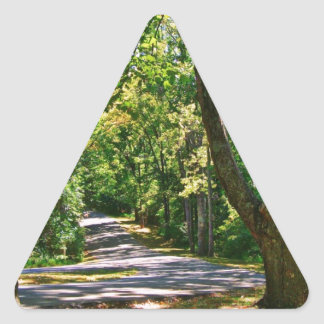 Where The Road Leads Triangle Sticker