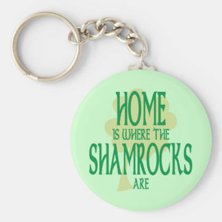 Where the Shamrocks Are Keychain