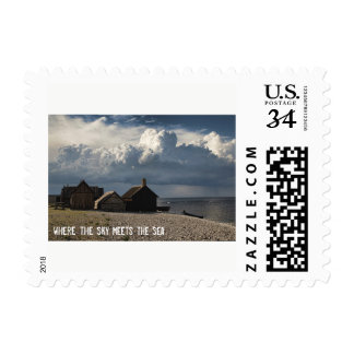 Where the sky meets the sea postage