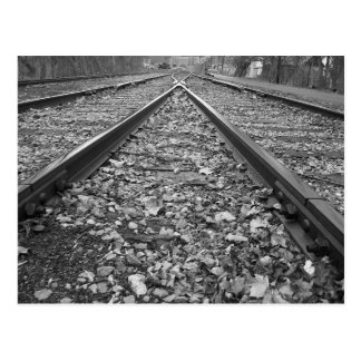 Where the train tracks meet postcard