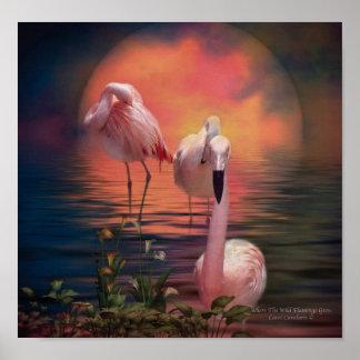 Where The Wild Flamingo Grow Poster/Print Poster