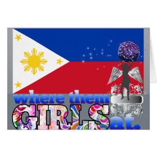 Where them Filipino girls at? Card