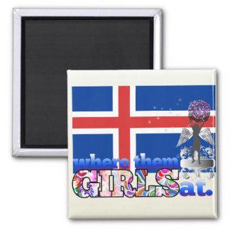 Where them Icelander girls at? Refrigerator Magnet