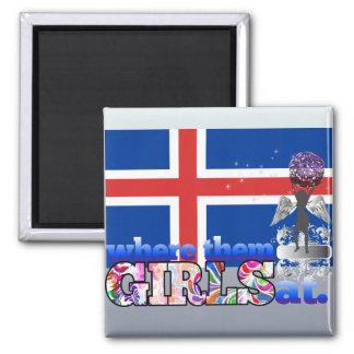 Where them Icelander girls at? Fridge Magnet