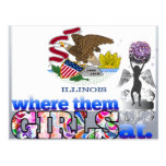 Where them Illinoisan girls at? Postcards