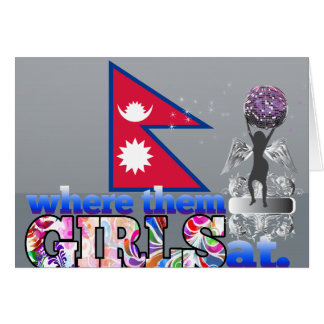 Where them Nepalese girls at? Greeting Cards