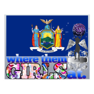 Where them New Yorker girls at? Postcard