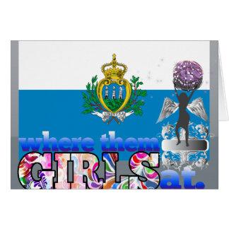Where them Sammarinese girls at? Card