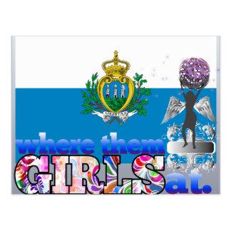 Where them Sammarinese girls at? Postcard