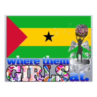 Where them Sao Tomean girls at? Postcard