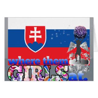 Where them Slovak girls at? Stationery Note Card