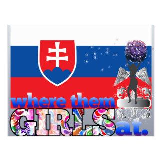 Where them Slovak girls at? Postcard