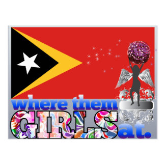 Where them Timorese girls at? Postcard