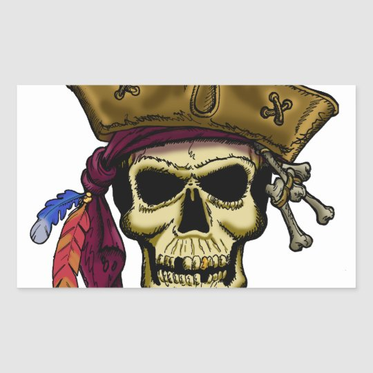 Where there be Pirates, there be a Party! Rectangular Sticker
