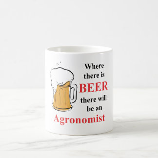 Where there is Beer - Agronomist Classic White Coffee Mug