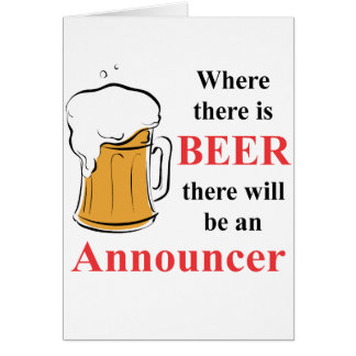 Where there is Beer - Announcer Cards