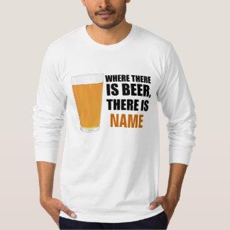 Where There is Beer L/S Amer Apparel T-Shirt