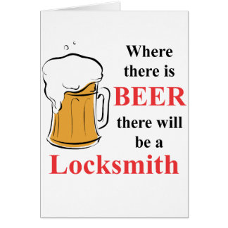 Where there is Beer - Locksmith Card